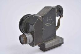 Lunette de tir pour MG08 en métal, le rail de montage sur la mitrailleuse est présent. Optique