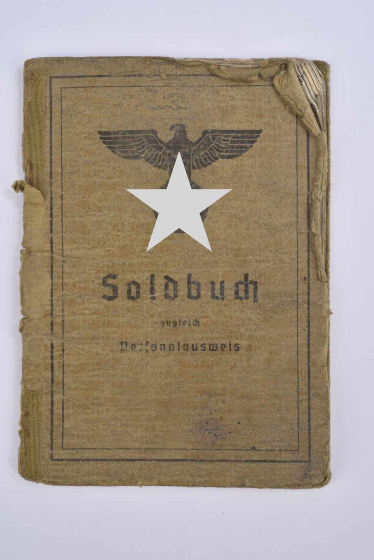 Soldbuch du Gefreiter Rüppenthal. Livret ouvert le 28 juin 1940, incorporé au «Landes Schützen