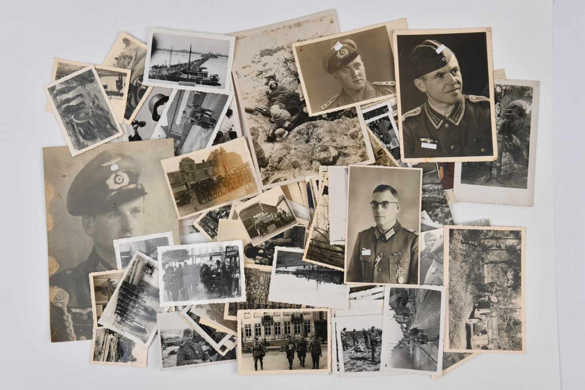Ensemble de photos de la Heer. Comprenant 131 photos des combats en France 40, en Belgique, en