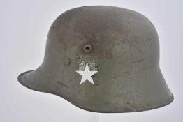 Casque de la Heer nominatif. Coque de casque type première guerre mondiale. Fabrication «BCS