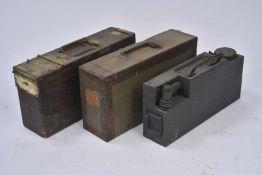 Boites à munitions 2 boîtes à munitions MG08/15 et une caisse de refroidissement. Etat II
