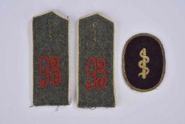 """Ensemble de pattes d'épaule pattes d'épaules et insigne 2 pattes d'épaules au chiffre """"93"""" et un"""