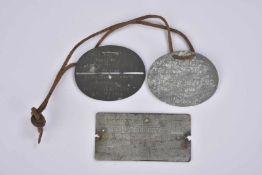 Plaques d'identités allemandes 2 plaque d'identités 1 Ers. Bat Bav 18 JR. et 1 Ers Bat. Bay. 2 JR.