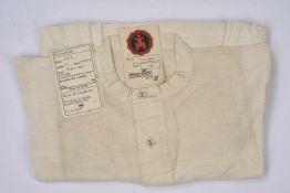 Chemise française reconditionnée pour les troupes allemandes En tissu coton nid d'abeille blanc,