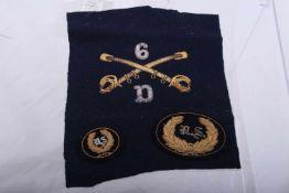 Reproduction d'insignes de coiffure US Comprenant un dessus de casquette pour officier US, du 6ème