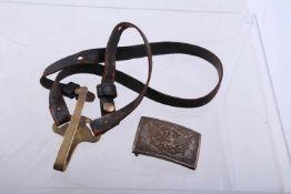 Ensemble d'équipement Nordiste comprenant un porte sabre en cuir pour la troupe, époque des