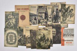 Publications sur la ville de Strasbourg occupée comprenant la brochure en grand format Das Elsass,