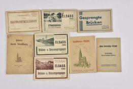 Publications sur la ville de Strasbourg occupée et sur l'Alsace Lot de 8 publications comprenant,