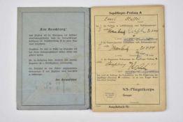 Flugbuch NSFK de Emil Stoffel Livret ouvert le 18 mai 1944, à Steinbourg, au nom de Emil Stoffel,