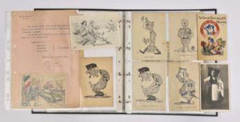 Cartes postales sur l'Alsace occupée et libérée Ensemble de 78 cartes postales autour du thème