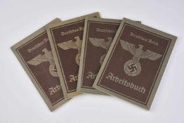 Ensemble de livrets Arbeitsbuch de la ville de Strasbourg Comprenant un livret au nom de Germania