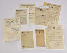 Le NSDAP en Alsace (Hoenheim, Strasbourg, Haguenau, Mulhouse, Colmar) Ensemble de 9 courriers (