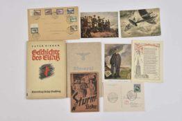 Ensemble de documents concernant l'Alsace Annexée Comprenant cinq cartes postales émanant de