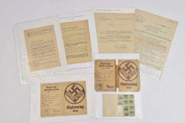 L'Opferring ou l'Antichambre du parti nazi en Alsace Ensemble comprenant 10 documents dont deux