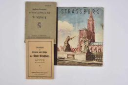Publications sur la ville de Strasbourg occupée comprenant 2 livret de corrélation entre les