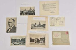Karl Roos Ensemble de 8 documents sur Karl Roos comprenant, notamment, un carton avec signature