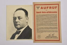 Karl Roos Photo originale en noir et blanc du pangermaniste alsacien édité sous l'annexion