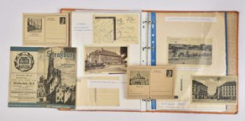 Cartes postales sur l'Alsace Ensemble de 126 cartes postales sur le thème de l'Alsace occupée.