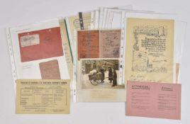 Les Evacués de Dordogne Fort dossier d'une quarantaine de documents et d'une photo sur les évacués