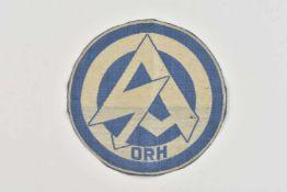 Patch de maillot de sport de la SA Gau Oberrhein En tissu coton blanc et bleu ciel, insigne de la SA