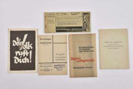 Strasbourg occupé Ensemble de 4 publications autour de Strasbourg occupé avec une rare plaquette