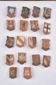 Winterhilfswerk du Gau Baden série du 4/5 janvier 1941 Série en céramique représentant les armoiries