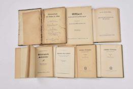 Livres de propagande allemande en Alsace Lot de 7 ouvrages en langue allemande sur le thème de l'