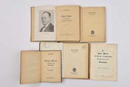 Livres de propagande allemande en Alsace Lot de 5 ouvrages en langue allemande autour de Karl Roos