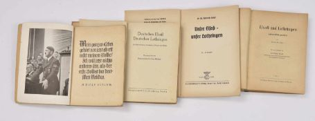 Livres de propagande allemande en Alsace Lot de 4 ouvrages en langue allemande sur le thème de l'