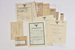 Administration de l'Alsace occupée Ensemble de 18 documents sur le thème de l'administration de l'