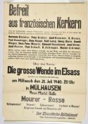Affiche allemande pour l'Alsace Affiche de texte pour une conférence sur le thème Le Grand Virage de