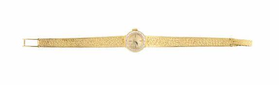 OROLOGIO OMEGA| OMEGA WATCH Orologio oro giallo Omega da donna con bracciale in tessuto in oro 18 kt