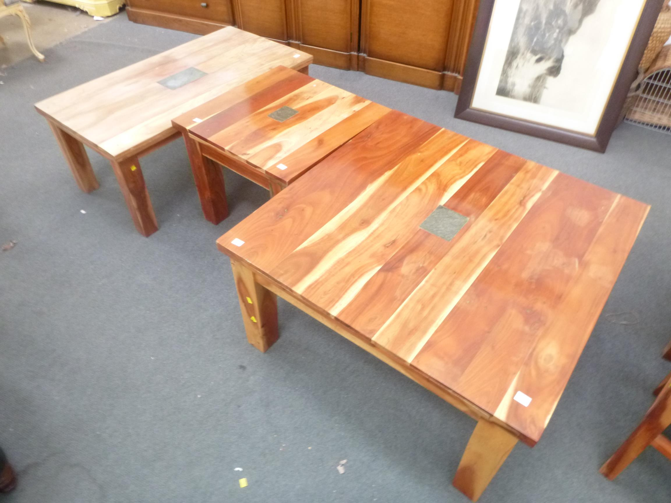 3 x coffee tables each solid wood construction with for Cjm builders
