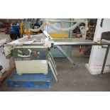 * SCM S150 Short Stroke Sliding Table Saw, saw blade tilts to 45°, 1500mm ripping capacity s/n