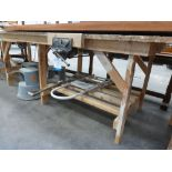 * Handmade Workshop Bench with ''Record No 52½'' Quick Release Vice. Bench:- H9350mm W2705mm D1095mm