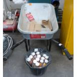 * Metal Surecraft 90L Wheelbarrow together with a Bucket with a quantity of Firemate Sealant and a