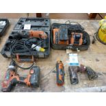 * Three AEG Power Tools:- A KH24E 110V Hammer Drill (in Fitted Case), A BWS 12C - PB Fitted to a BWS