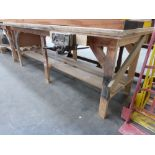 * Handmade Workshop Bench with a ''Woden'' Quick Release Vice (264mm Wide). Bench:- H965mm W2600mm