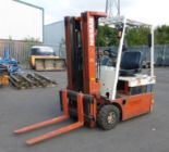 Lot 30 - * Nissan N01L15U Electric Counterbalance Fork Truck, Max Capacity 1450Kg c/w Triplex Mast with