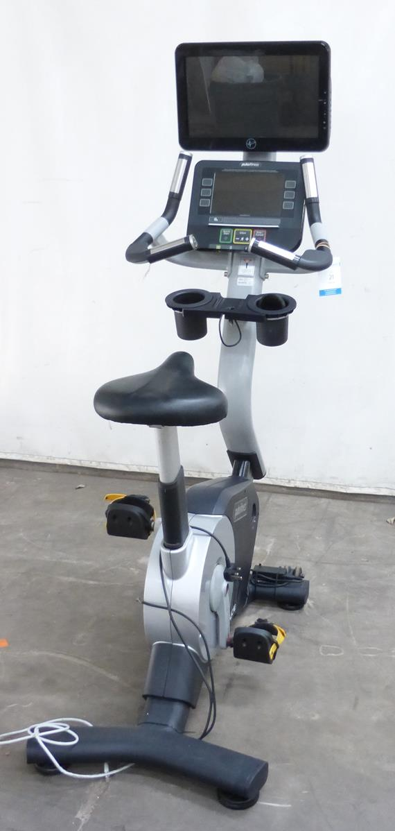 a pulse fitness upright u cycle with apple dock heart. Black Bedroom Furniture Sets. Home Design Ideas