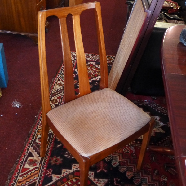 sc 1 st  The Saleroom & A set of four mid 20th Century teak dining chairs by u0027Nathanu0027