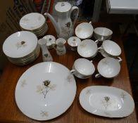 """Kaffeeservice für 12 Personen """"Rosenthal"""" Form 2000, braunes Rosendekor, anbei einige Kleinteile wie"""