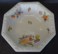 """Schale """"Rosenthal"""" Form Maria mit Blumen, H-6 cm, 24x24 cm"""