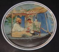 """runde Platte m it Manet Gemälde """"Limoges"""" D-31 c"""
