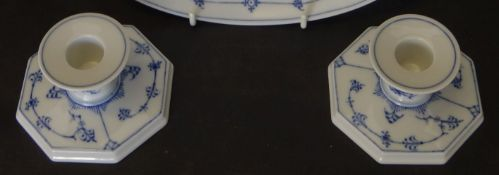 "Paar Kerzenhalter ""Royal Copenhagen"", H-5 cm, 10x10 cm"