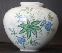 "Vase ""Weimar"" mit Porzellanmalerei, H-13 cm, D-15 cm"