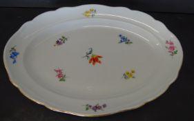 """ovale Platte """"Meissen"""" Streublume, 1.Wahl, 29x21 cm"""