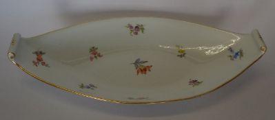 """ovale Schiffchenschale """"Meissen"""" Streublume, 1.Wahl, H-6 cm, 33x16 cm"""