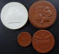 4x Meissen Medaillen