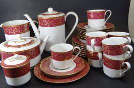 """28 Teile Kaffee-Teeservice """"Langenthal"""" Dekor Chateau, 8 kompl. Gedecke"""